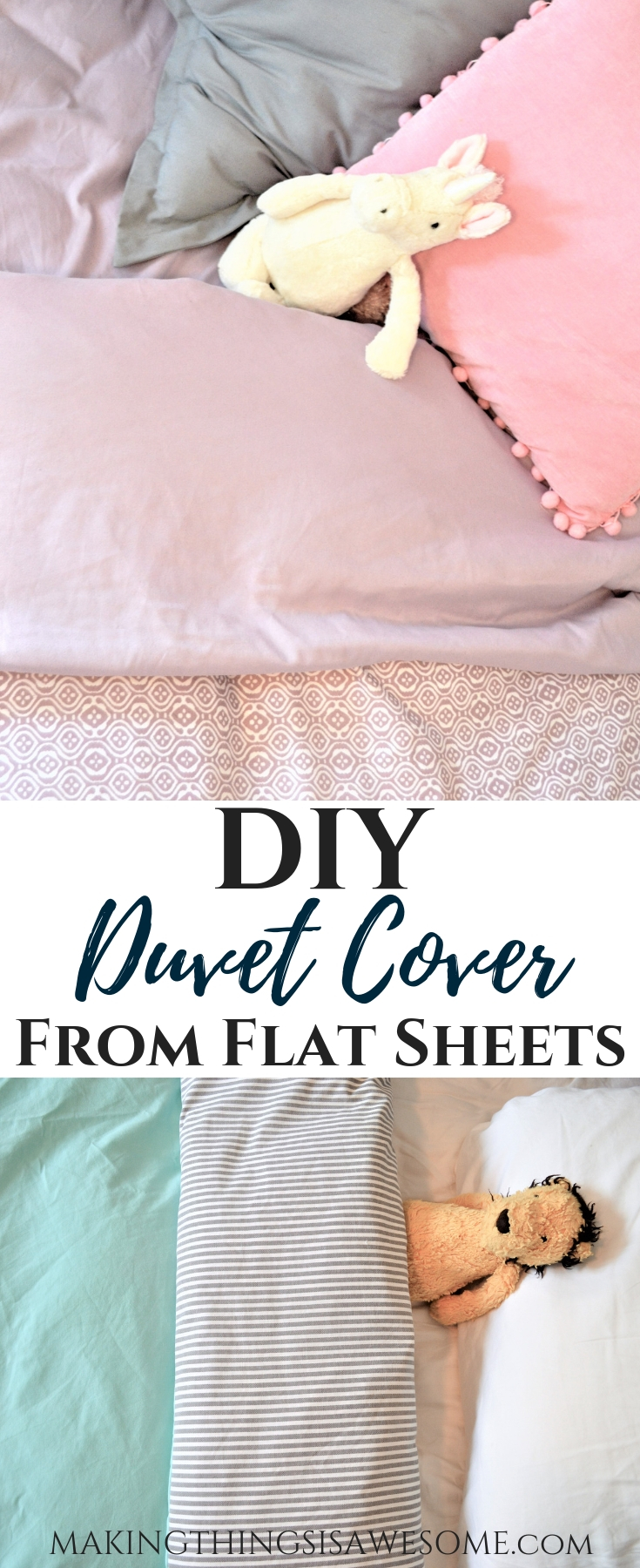 Diy Duvet Cover From Flat Sheets Tutorial Making Things Is Awesome