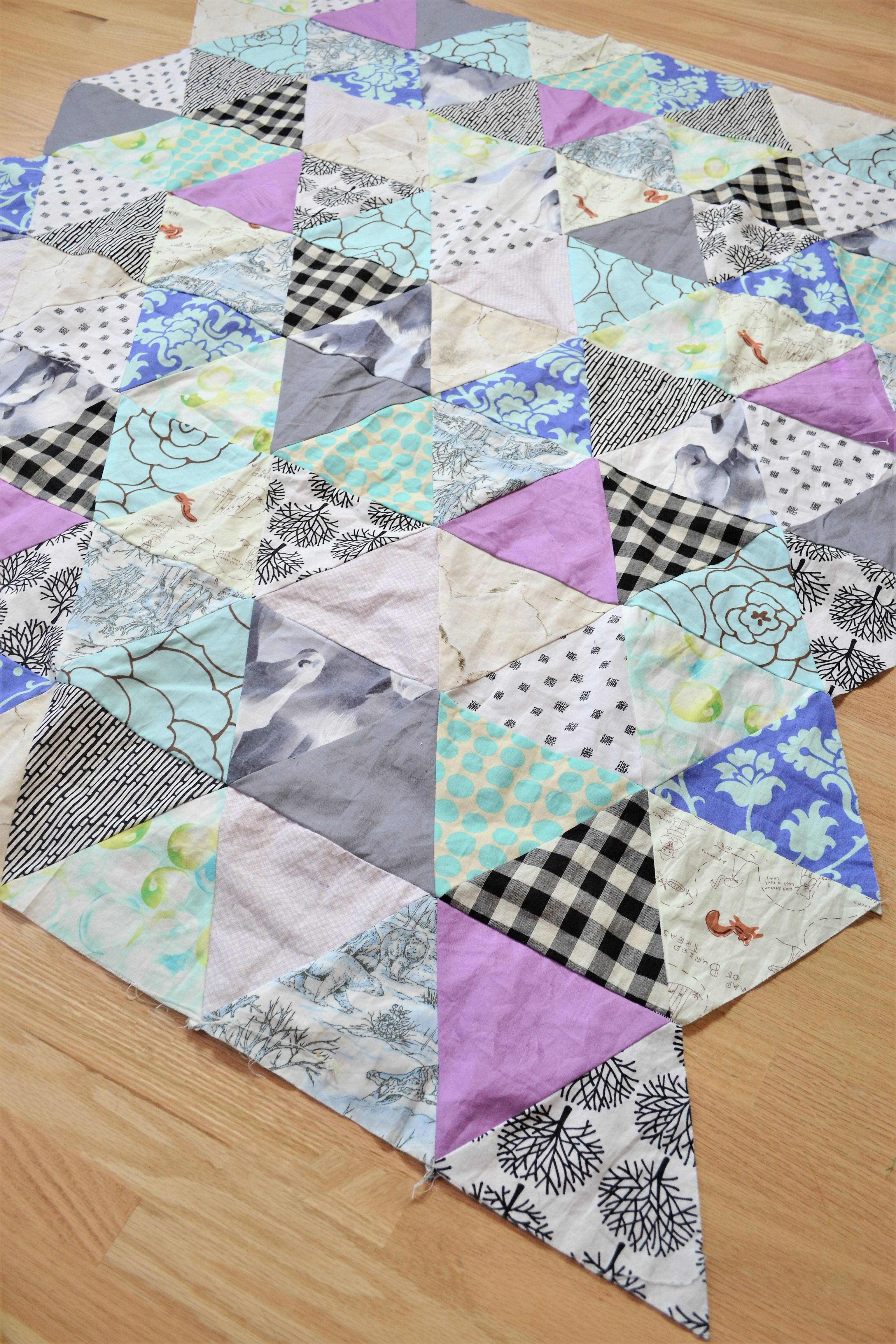 Baby Quilt Patterns Triangle Modern Quilt Pattern Making Things Is Awesome